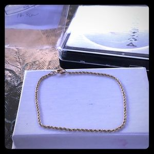 14k Braided Chain Bracelet